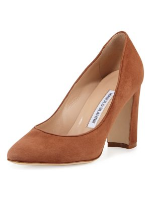 Manolo Blahnik Tuccio Suede 90mm Pump