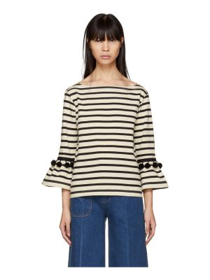 Marc Jacobs and Black Striped Pom Pom T-shirt