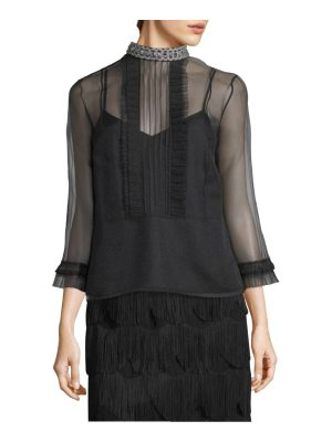 Marc Jacobs embellished pintuck top