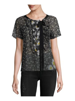 Marc Jacobs Floral Frill Cotton Top