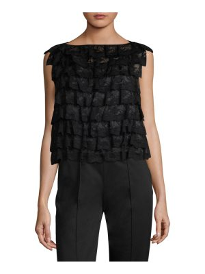 Marc Jacobs ruffle lace shell top