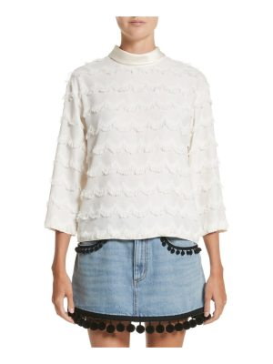 Marc Jacobs scalloped fringe top