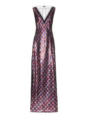 Marc Jacobs Tulle-panel sequin-embellished gown