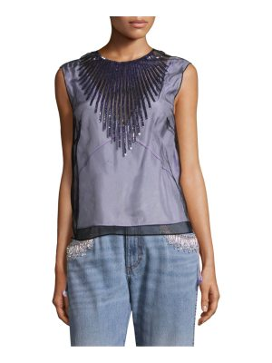 Marc Jacobs tulle shell sequin blouse