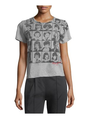 Marc Jacobs Yearbook-Print Short-Sleeve Cotton Tee