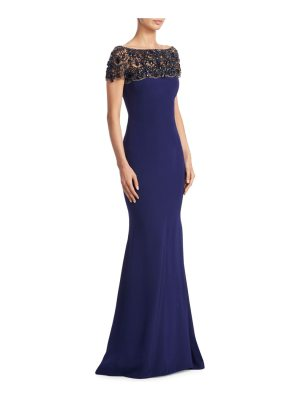 Marchesa crystal embellished gown