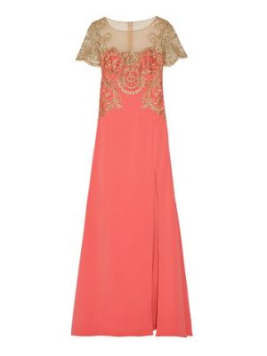 Notte by Marchesa embroidered tulle and stretch
