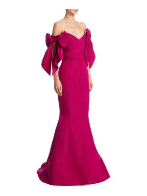 Marchesa off-shoulder trumpet gown