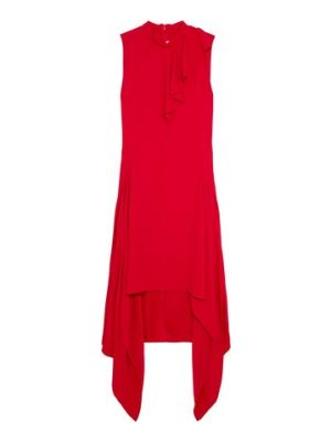 Marni asymmetric ruffled crepe dress