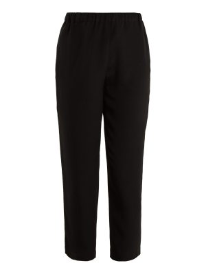 Marni High-rise tapered-leg crepe trousers