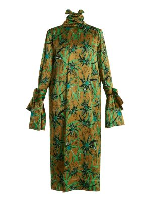 Marni Long Sleeved Herbage Print Midi Dress