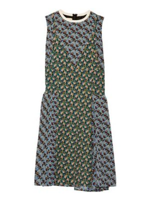 Marni paneled printed silk crepe de chine dress
