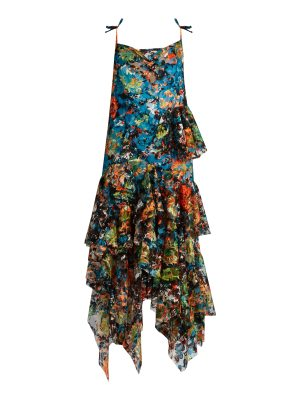 Marques'Almeida Sweetheart-neck sleeveless floral-lace dress