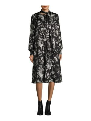 McQ by Alexander McQueen floral front bow dress