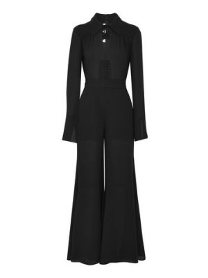 McQ by Alexander McQueen flared cutout crepe jumpsuit