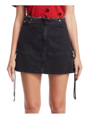 McQ by Alexander McQueen lace-up denim mini skirt