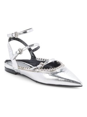 McQ by Alexander McQueen Point-Toe Leather Flats