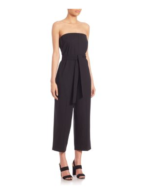 McQ by Alexander McQueen Solid Strapless Jumpsuit