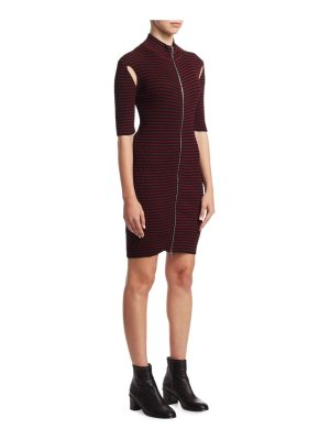 McQ by Alexander McQueen striped bodycon dress