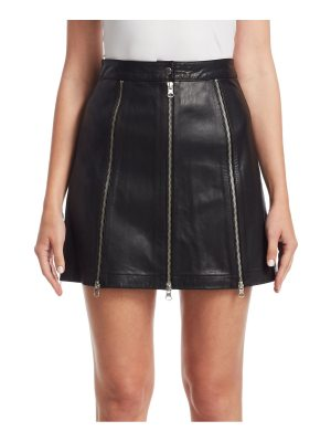 McQ by Alexander McQueen zip leather mini skirt