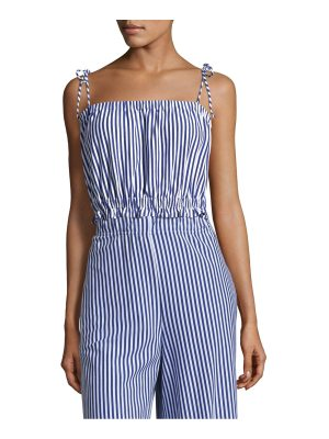 MDS Stripes taylor stripe cropped cotton camisole