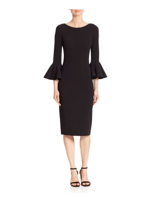 Michael Kors Collection bell sleeve virgin wool sheath dress