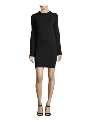 Michael Kors Collection Bell-Sleeve Crewneck Cashmere-Blend Mini Dress