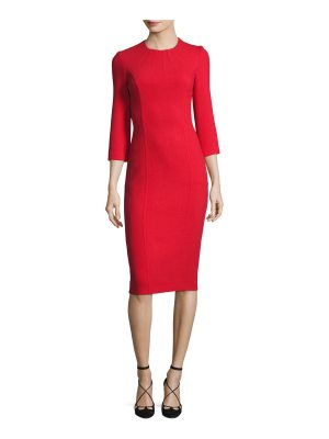 Michael Kors Collection Boucle Crepe 3/4-Sleeve Sheath Dress