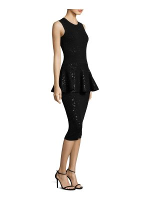 Michael Kors Collection crewneck peplum dress