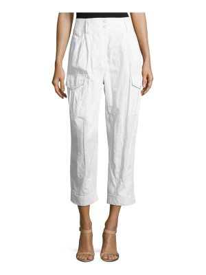 Michael Kors Collection Cropped Straight-Leg Cargo Pants