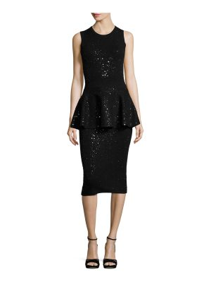 Michael Kors Collection Embellished Sleeveless Peplum Dress