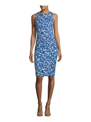 Michael Kors Collection Field Floral-Print Stretch-Matelasse Sheath Dress