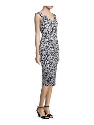 Michael Kors Collection floral jacquard dress