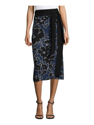 Michael Kors Collection floral-print silk skirt