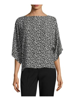 Michael Kors Collection floral silk top
