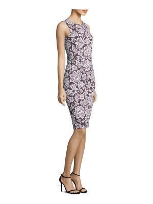 Michael Kors Collection lace crewneck sheath dress