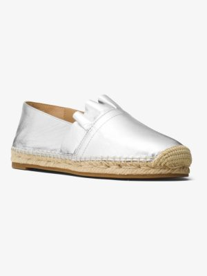 Michael Kors Collection Laticia Metallic Leather Espadrille