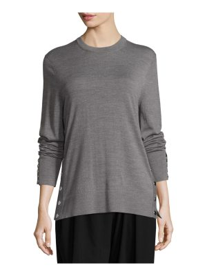 Michael Kors Collection Merino Wool Side-Snap Sweater