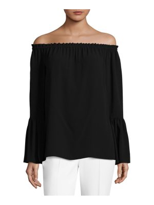 Michael Kors Collection off-the-shoulder bell-sleeve silk top