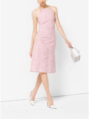 Michael Kors Collection Ribbon-Embroidered Organza Dress