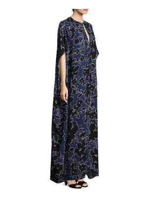 Michael Kors Collection silk floral caftan dress