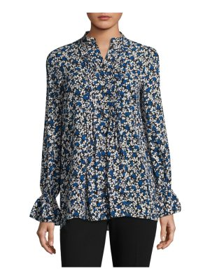 Michael Kors Collection bell-sleeve silk floral top