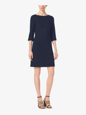 Michael Kors Collection Stretch Boucle-Crepe Shift Dress