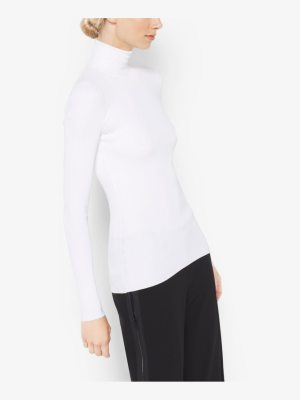 Michael Kors Collection Stretch-Jersey Turtleneck
