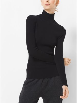 Michael Kors Collection Stretch-Viscose Turtleneck