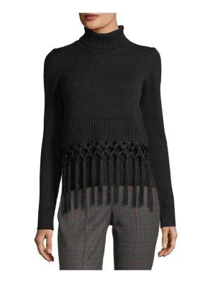 Michael Kors Collection Tassel-Trim Cashmere Turtleneck Sweater