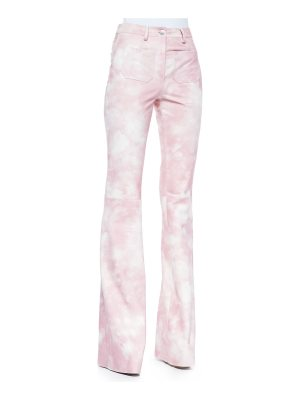 Michael Kors Collection Tie-Dye Leather Bell-Bottom Pants