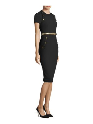 Michael Kors Collection wool button sheath dress
