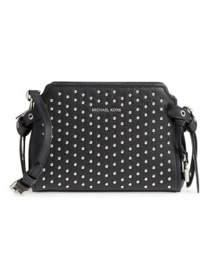 Michael Kors michael  lenox studded leather crossbody bag