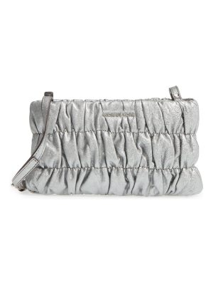 Michael Kors michael  webster metallic leather clutch